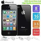 SCHWARZ APPLE IPHONE 4S A1387 16GB IOS SMARTPHONE HANDY OHNE SIMLOCK WLAN AAA+