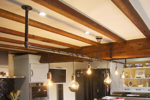 Hand made rustic industrial black iron pipe lighting chandelier ebay