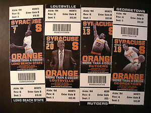 Syracuse Orange 2012 13 Ncaa Men S Basketball Ticket Stubs One