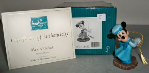 (K)WDCC Mickey's Christmas Carol Mrs Crachet Minnie Ornament Disney #11K 411450