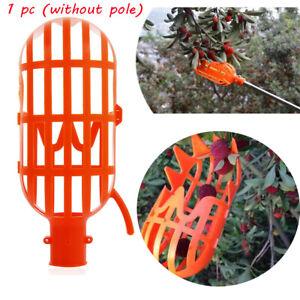 Orange-Plastic-Fruit-Picker-Practical-Gardening-Picking-Tool-Fruits-Catcher-NEW
