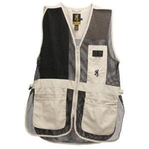 Browning-Trapper-Creek-Mesh-Shooting-Vest-Sand-Black-XL
