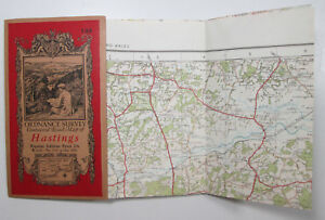 1921 old vintage OS Ordnance Survey Popular Edition one inch map 135 Hastings - Parracombe, United Kingdom - 1921 old vintage OS Ordnance Survey Popular Edition one inch map 135 Hastings - Parracombe, United Kingdom