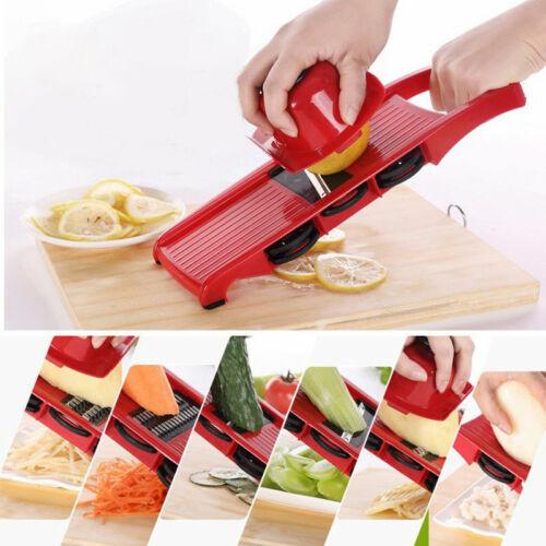 Pro Mandolin Slicer Food Cutter Fruit Vegetable Chopper Grater Peeler w//6 Blades
