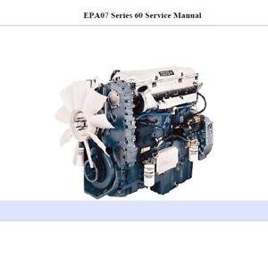 Detroit Diesel Series 60 >> Details About Detroit Diesel Series 60 Epa07 14 0l Engine Service Repair Manual Cd