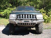 1993-98 Jeep Grand Cherokee Zj Winch Bullbar Front Bumper