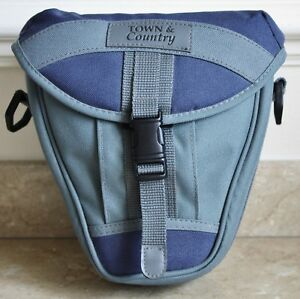 Town-amp-Country-Camera-Pouch-for-SLR-DSLR-CSC-Grey-amp-Blue