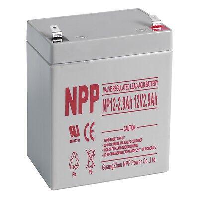 NPP 12V 5Ah 12 Volt 5 amp Rechargeable Sealed Lead Acid Battery   F1