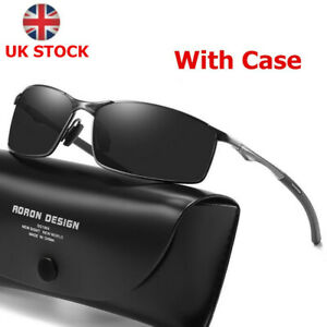 Photochromic Polarized Sunglasses UV400 Pilot Sport Mens Driving Eyewear UK