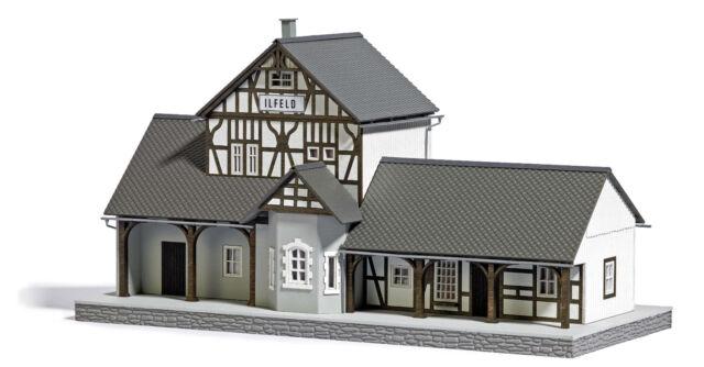 """Busch 1640 Bahnhof """"ILFELD"""" Lasercut Bausatz HO 1:87 Neu:"""