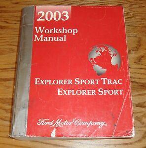 original  ford explorer sport trac shop service manual
