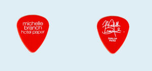 Michelle-Branch-2003-Hotel-Paper-tour-White-on-Red-Pop-logo-Guitar-Pick-Pic