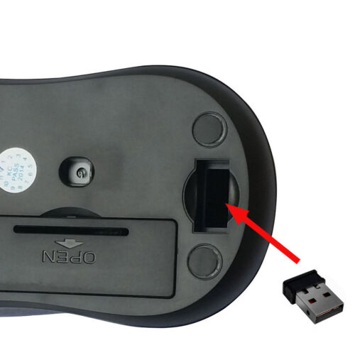 USB Receiver for PC Laptop 2.4GHz Wireless Cordless Optical Mouse Mice