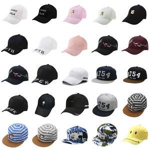 2fc46dcf8c5 Men Women Adjustable Unisex Hip Hop Baseball Hat Letter Embroidery ...