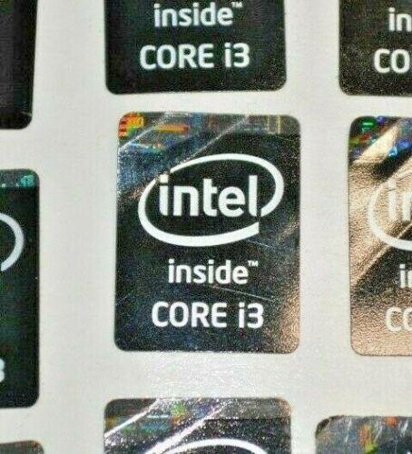 Black Intel i3 System Sticker *used