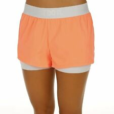 NIKE DRI FIT JUST DO IT 2 IN 1 SHORTS SIZE 6 x small PEACH WHITE tennis circuit