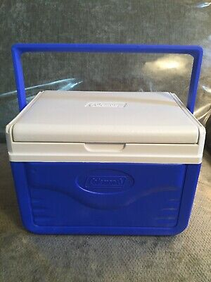 Take 6 Cans Perssonal Cool Box Blue Coleman Lunchbox Cooler 5 Quart