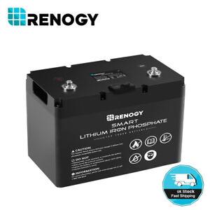 Renogy 12V 100Ah LiFePO4 SMART Lithium Iron Phosphate Battery BMS Leisure RV