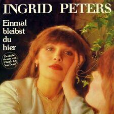 """7"""" INGRID PETERS Einmal bleibst du hier CV PH.D. I Won't Let You Down CBS D 1982"""