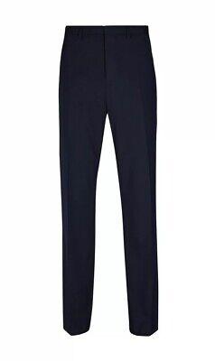 """""""burton Menswear Navy Tailored Fit Pantaloni Stretch Essenziali 42r-mostra Il Titolo Originale"""