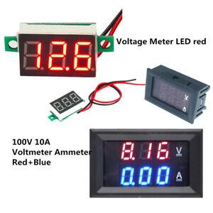 DC100V-10A-Voltmeter-Ammeter-Blue-Red-LED-Amp-Dual-Digital-Red-LED-Voltage-Meter