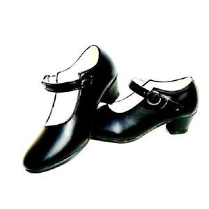 sélection premium Excellente qualité moitié prix Détails sur Chaussures escarpin noir de danse FLAMENCO fille enfant  fillette 22 à 36