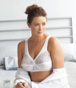 719d3fabe1cf4 Details about 50DD Bra - Glamorise WHITE MagicLift Full Figure Support  Wirefree Bra  1000