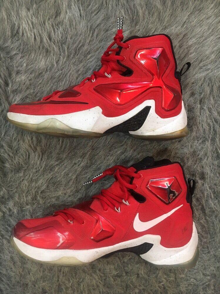 3a2cd8e9d4e Nike Men s Lebron XIII XIII XIII Basketball Shoes 807219 610  Red White Black Size. Home
