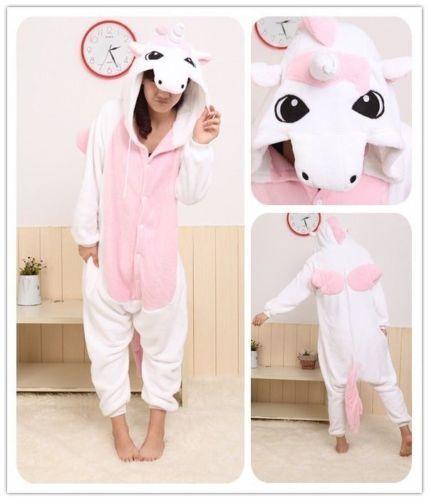 Pink Unicorn Adult Animal  Kigurumi Pyjamas Sleepwear Onesi `!