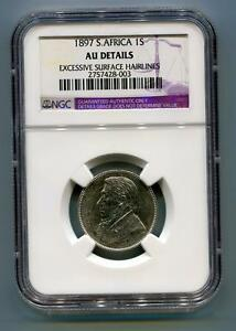 South-Africa-ZAR-NGC-Graded-1897-Kruger-1-Shilling-AU-Details