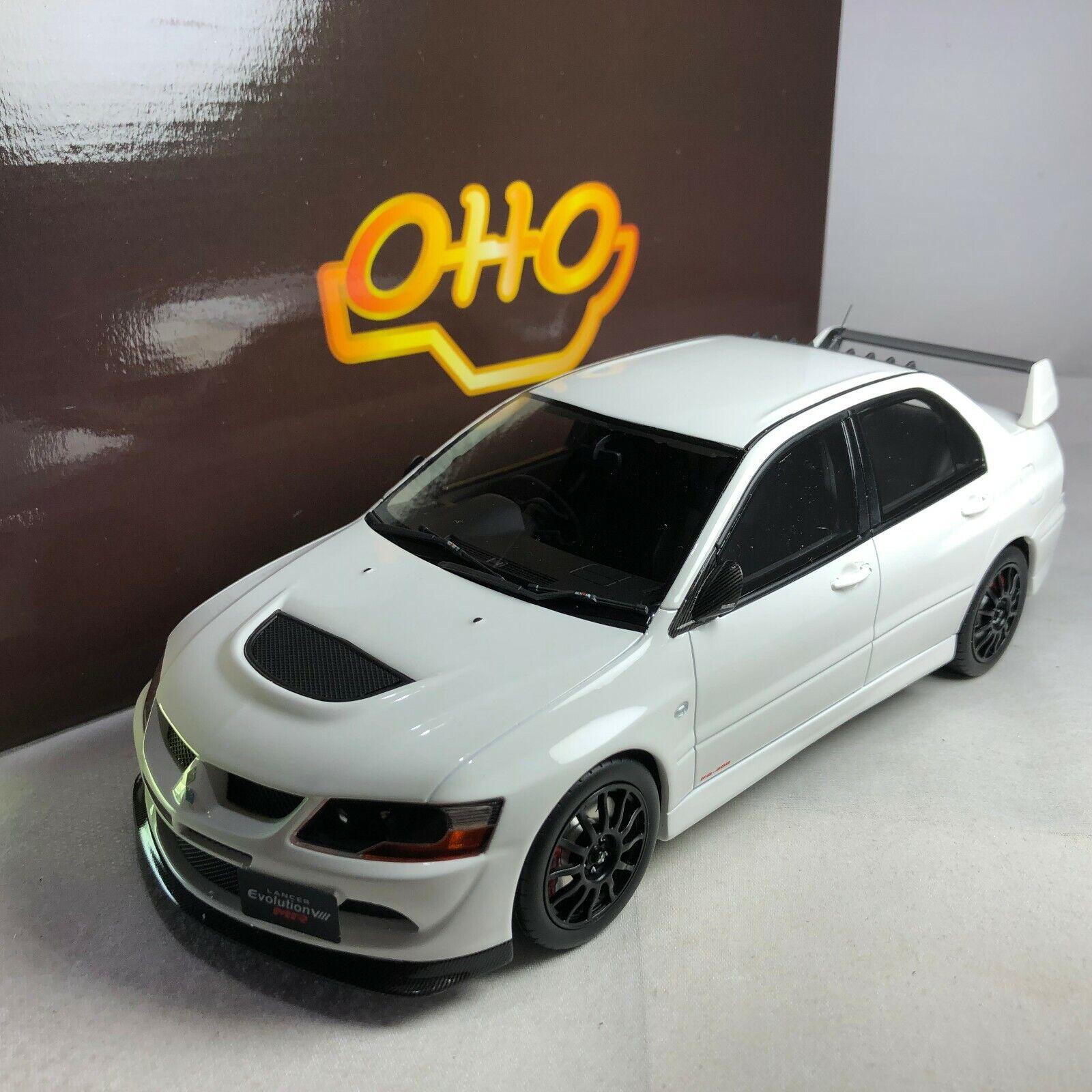 1 18 Otto MITSUBISHI Laner EVO 8 Mr FQ-400 Blanc
