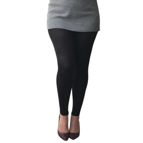 89/% Nylon 11/% Elastane Essexee Legs Plus Size 80 Denier Opaque Footless Tights