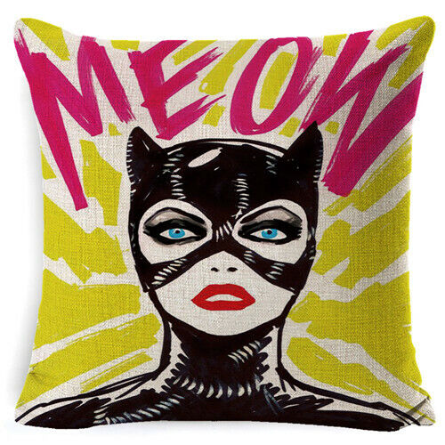 Decorative Cartoon Pop Pillow Case Portrait Housse Coussin