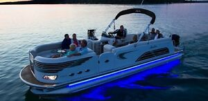 32ft Big Kit Pontoon Boat Lights Looks Like Neon But