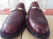NWOB 9 D E.T. Wright Woven Leather Slip On's Made in Italy