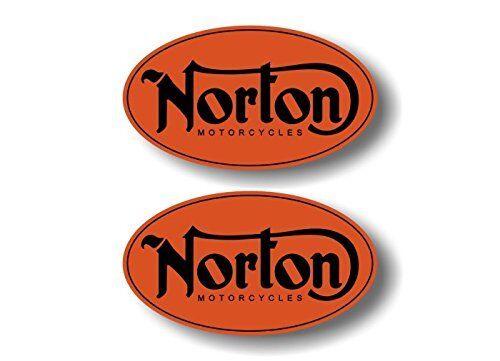 Norton x 2 Sticker for skateboard luggage laptop tumblers car
