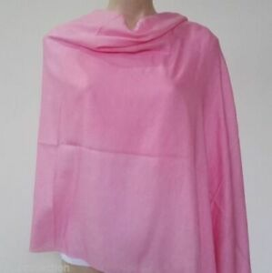 Details about 100% Cashmere Shawls for Women Nepalese Handmade Light Pink  Colour Warm Wraps