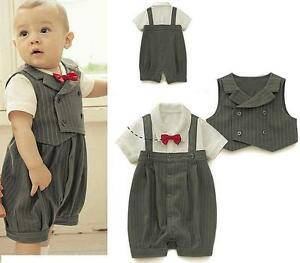 Details About Cute Baby Boy S Wedding Special Occasion Christening Tuxedo Suit Outfit Kawaii