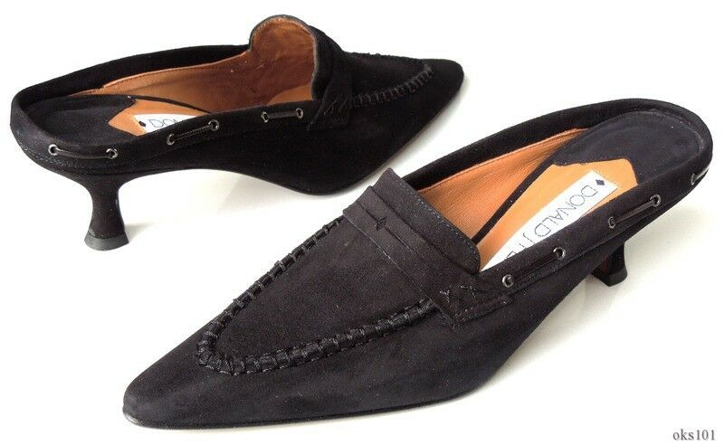 new DONALD J PLINER 'Brl' schwarz suede mules slides Schuhes - gorgeous