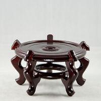 Round Dark Brown Wooden Bonsai Tree Stand 6.5x 6.5x 4