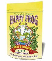 Happy Frog Fruit & Flower Fertilizer 4 Lb Organic & Natural Food Fox Farm Garden