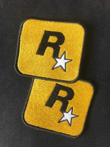 ROCKSTAR PATCH GAMES PLAYSTATION LOGO PS4 VIDEO GAME BADGE IRON ON YELLOW