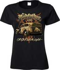 Frauen T Shirt schwarz US Car Vintage Hot Rod/&`50 Stylemotiv Modell Lucky 7 Hot