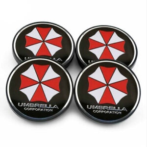 4x-60mm-UMBRELLA-CORPORATION-Nabendeckel-Felgendeckel-Nabenkappen
