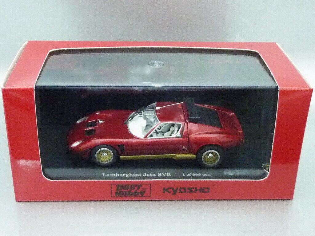 1 43 Kyosho - LAMBORGHINI JOTA AVR (RED METALLIC) - POST HOBBY SPECIAL