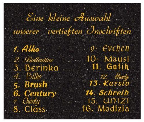 Grabstein Preis ist mit Inschrift  und Symbol 50x40x6cm Rasenstein Liegestein