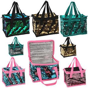 Unicorn-Mermaid-Lunch-Box-Designer-Reversible-Colourful-Sparkle-Sequin-Cool-Bag