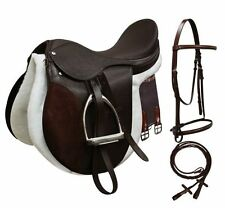 ENGLISH SADDLE All Purpose Traditional Deep Seat COMPLETE STARTER SET