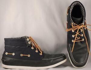 Goma oración Ninguna  Men's Timberland Navy Blue Leather/Textile Chukka Boot Boat Shoes US 12 M    eBay