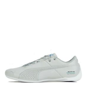 Puma-Mercedes-AMG-Petronas-future-cat-Ultra-Homme-Baskets-Chaussures-Argent-Blanc